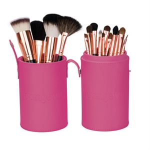 Mineral Makeup Brush Kit - Pink Case  Product Page