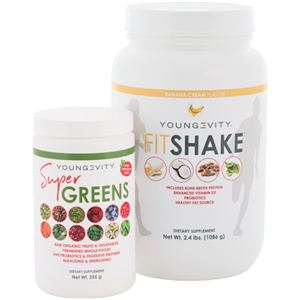 Youngevity Super Greens  and FitShake Combo Product Page
